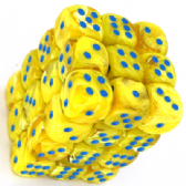 Yellow & Blue Vortex 12mm D6 Dice Block